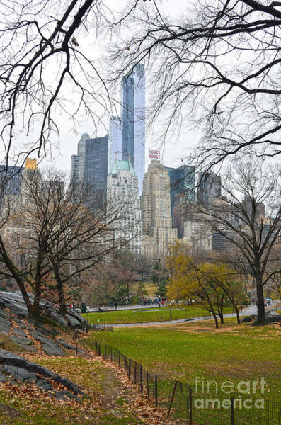 Photograph - Central Park South Buildings From Central Park by RicardMN Photography