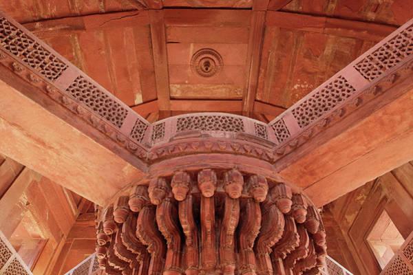 Central Asia Photograph - Central Pillar Details Of Diwan-i-khas by Adam Jones