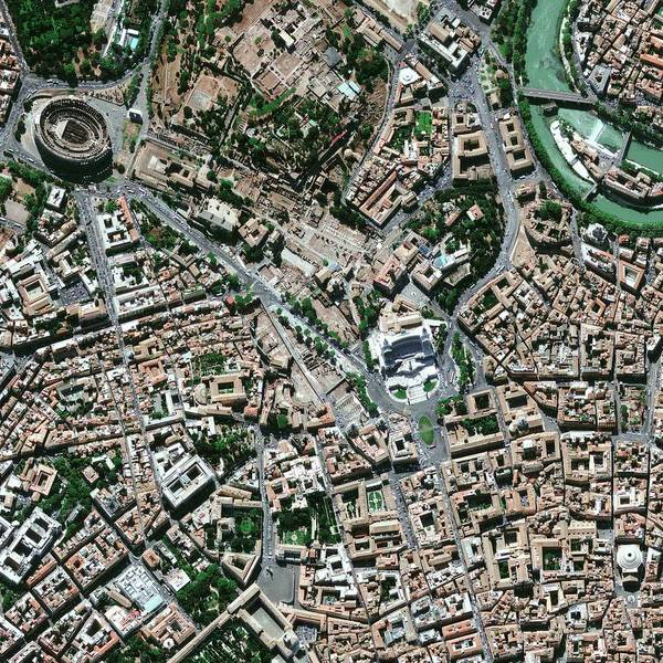 Pantheon Wall Art - Photograph - Central Rome by Geoeye/science Photo Library