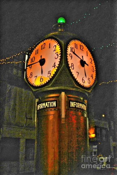 Photograph - Central Terminal Clock by Jim Lepard