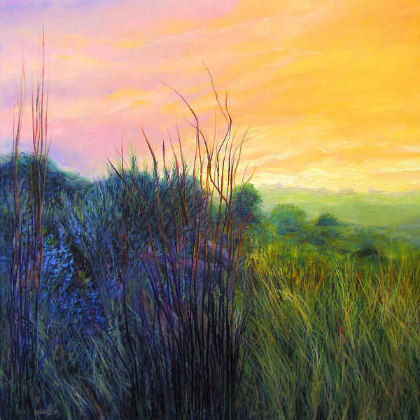 Central Texas Painting - Central Texas Grassland Sunrise by Charles Wallis