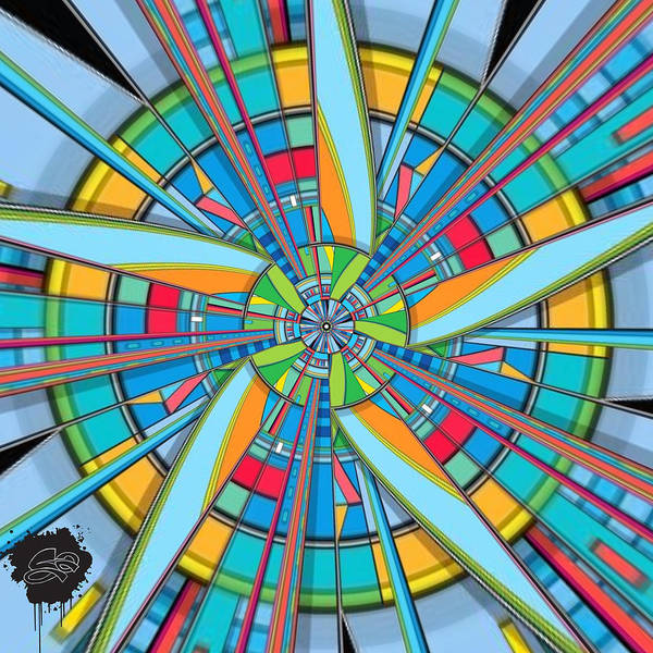 Propellors Digital Art - Centrifuge Of Light by Lisa Schwaberow