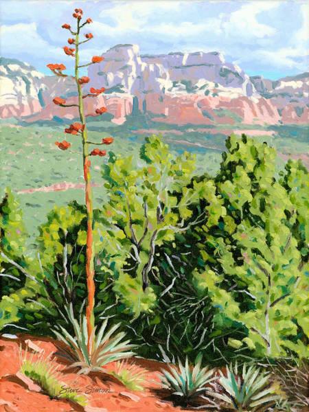 Sedona Painting - Century Plant - Sedona by Steve Simon