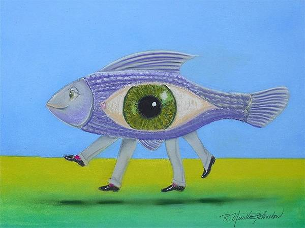 Dude Mixed Media - Ceo Fish by R Neville Johnston