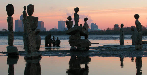 Photograph - Ceprano Rock Arts. Ottawa River by Rob Huntley