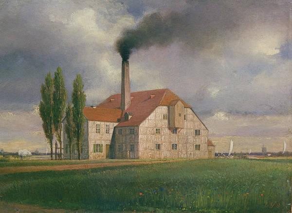 Manufacturers Photograph - Ceramics Factory Belonging To Ernst March, Sophienstrasse, Charlottenburg, Berlin, 1835 Oil by Eduard Gartner