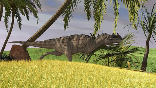 Digital Art - Ceratosaurus Hunting In A Field by Kostyantyn Ivanyshen