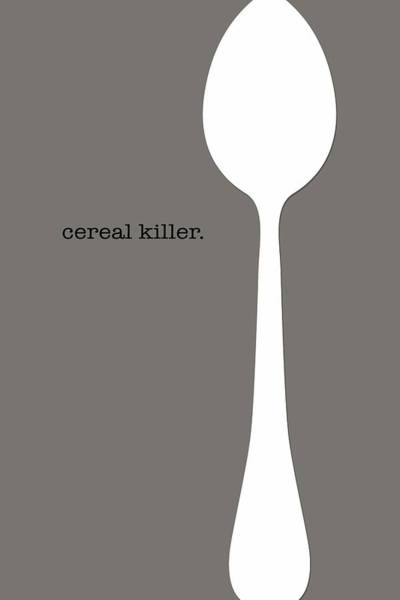 Kitchen Utensil Digital Art - Cereal Killer by Nancy Ingersoll