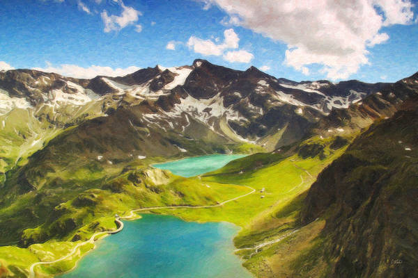 Painting - Ceresole Lake Itl4072 by Dean Wittle