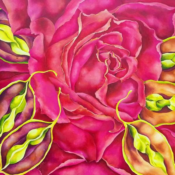 Wall Art - Painting - Cereza by Elizabeth Elequin