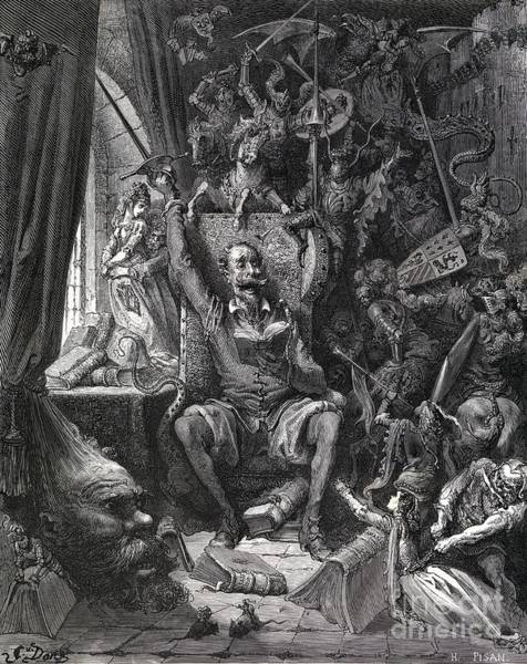 Wall Art - Photograph - Cervantes's Don Quixote In His Library by Middle Temple Library