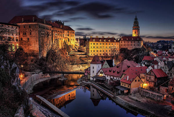 Rooftops Photograph - Cesky Krumlov by Petr Kub?t