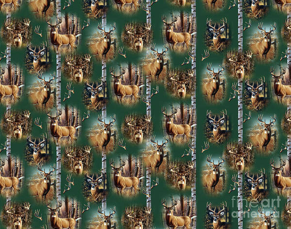 Painting - Cf Whitetail Deer Pillow Art by JQ Licensing
