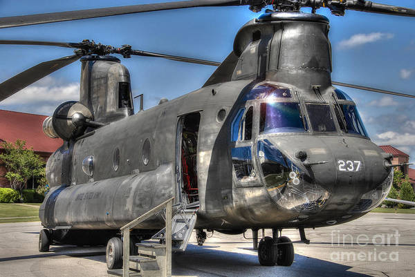 Photograph - Ch 47 Chinook  Us Army by Ken Johnson