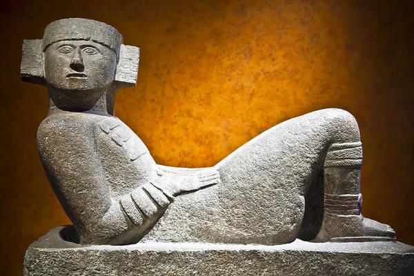 Mayan Wall Art - Photograph - Chacmool by John Bartosik