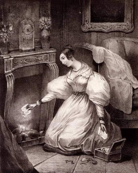 Fireplace Drawing - Chagrin Damour, Early C19th by French School