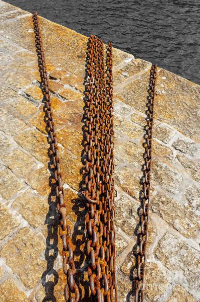 Rusty Chain Wall Art - Photograph - Chain Abstract by Svetlana Sewell