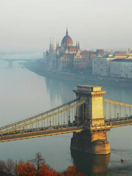 Parliament Building Photograph - Chain Bridge And Hungarian Parliament by Ilona Nagy
