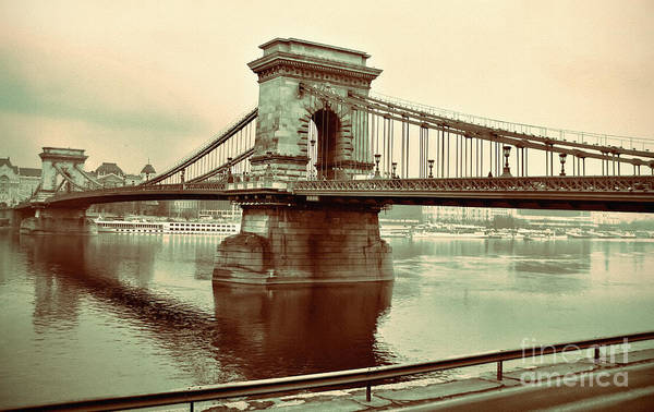Photograph - Chain Bridge In Budapest by Daliana Pacuraru