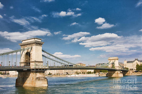 Buda Photograph - Chain Bridge In Budapest by Gabriela Insuratelu