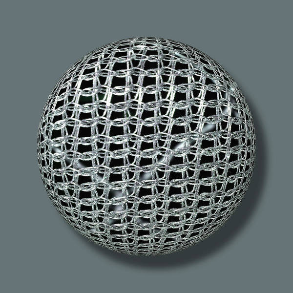 Painting - Chain Mail Armor Orb by Tony Rubino