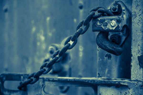 Wall Art - Photograph - Chained And Moody by Toni Hopper