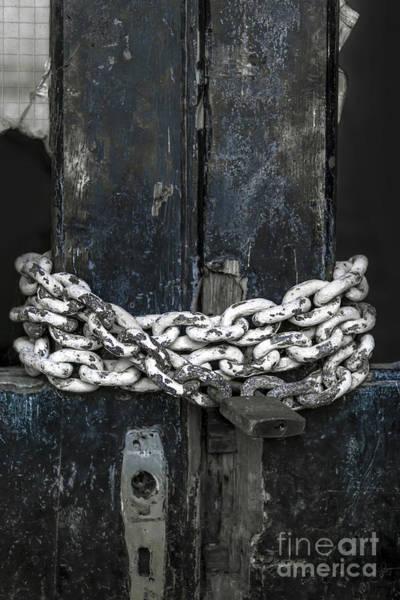 Rusty Chain Wall Art - Photograph - Chained Door by Svetlana Sewell