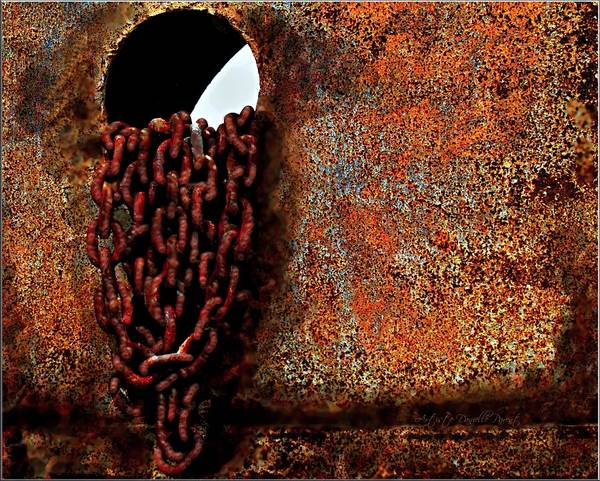 Chained To The Past And Rusted Art Print