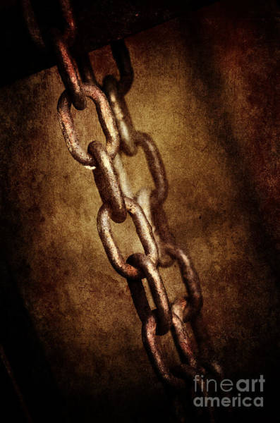 Rusty Chain Wall Art - Pyrography - Chains by Jelena Jovanovic