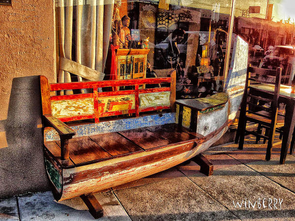 Digital Art - Chair Canoe by Bob Winberry