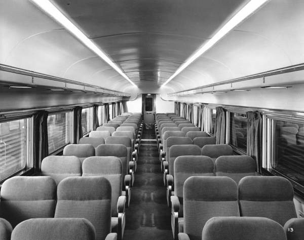 Photograph - Chair Car On Denver Zephyr by Underwood Archives