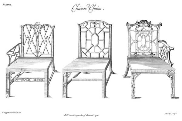 Photograph - Chair Designs, 1753 by Granger
