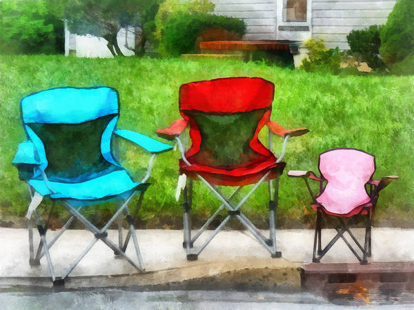 Photograph - Chair Family by Susan Savad