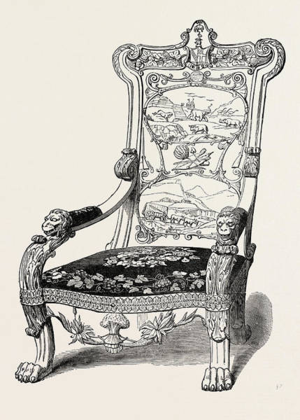 Wall Art - Drawing - Chair Presented To C.b. Adderley, Esq by South African School