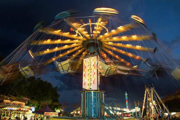 Chatham Photograph - Chair Swing Fairground Ride by Jim West