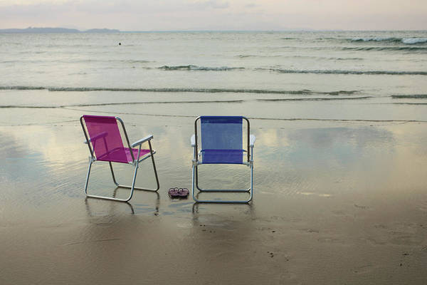 Deck Chair Photograph - Chairs By The Sea -  Brazil by Dircinhasw