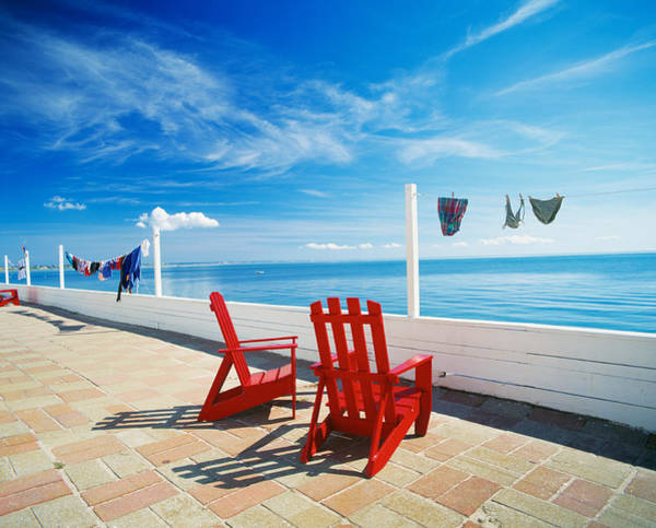 Adirondack Chair Wall Art - Photograph - Chairs Cape Cod Ma by Panoramic Images