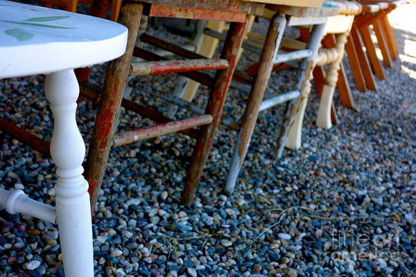 Photograph - Chairs In A Row by Jacqueline Athmann