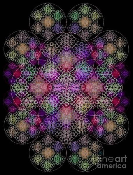 Digital Art - Chalice Cell Rings On Black Dk29 by Christopher Pringer