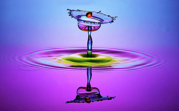 Splash Photograph - Chalice Colors Full by Muhammad Berkati
