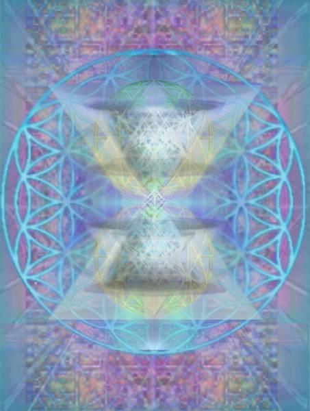 Digital Art - Chalicespheres And Flower Of Life Latticework by Christopher Pringer