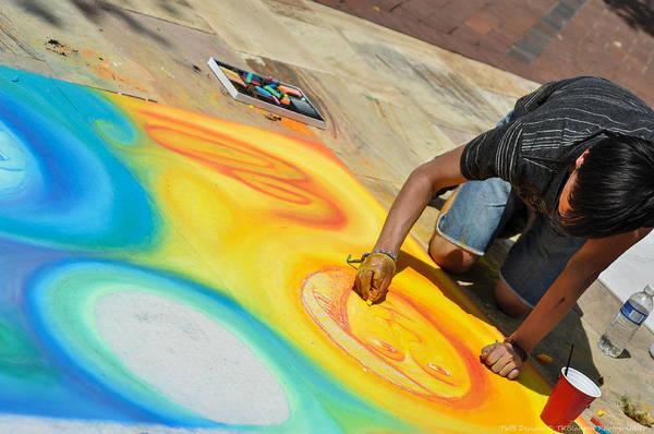 Photograph - Chalk Artist 2 by Teresa Blanton