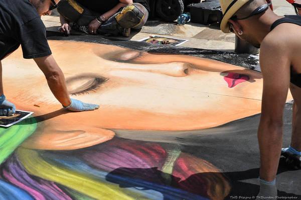 Photograph - Chalk Artwork by Teresa Blanton