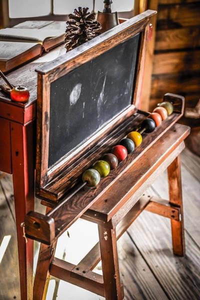 Pioneer School Photograph - Chalk Board by Chris Smith