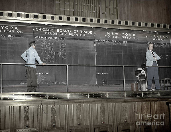 Photograph - Chalk Board Of Trade 1951 by Martin Konopacki Restoration