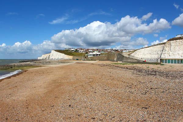 Saltdean Photograph - Chalk Cliffs At Saltdean East Sussex by Carole-Anne Fooks