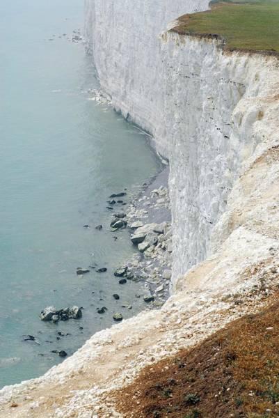 Wall Art - Photograph - Chalk Cliffs by Jon Wilson/science Photo Library