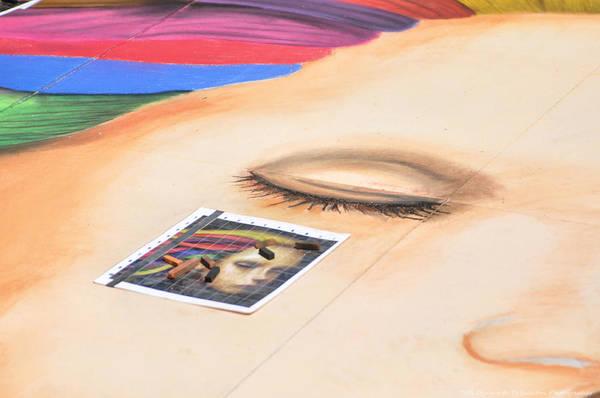 Photograph - Chalk Event Eye by Teresa Blanton