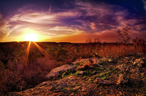 Texas Photograph - Chalk Mountain At Sunset by Dean Fikar
