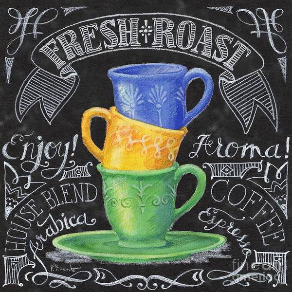 Coffee Painting - Chalkboard Coffee I by Paul Brent